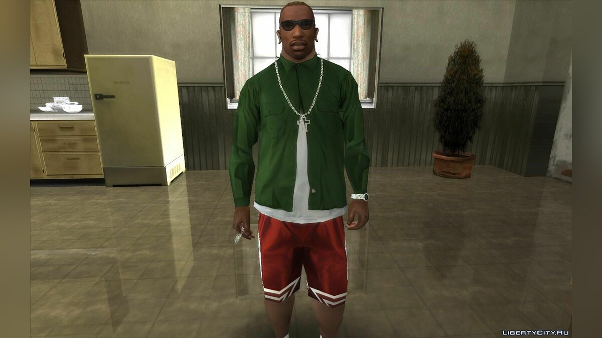 Mod Improved textures for CJ (Clothes, tattoos, hairstyles) - CJ Upscale HD v2.0 for GTA San Andreas