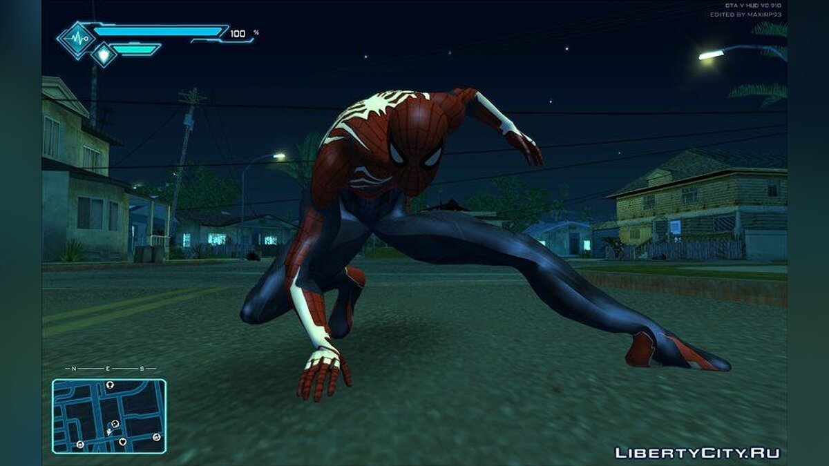 Mod Spiderman 2018 Styled HUD for GTA San Andreas