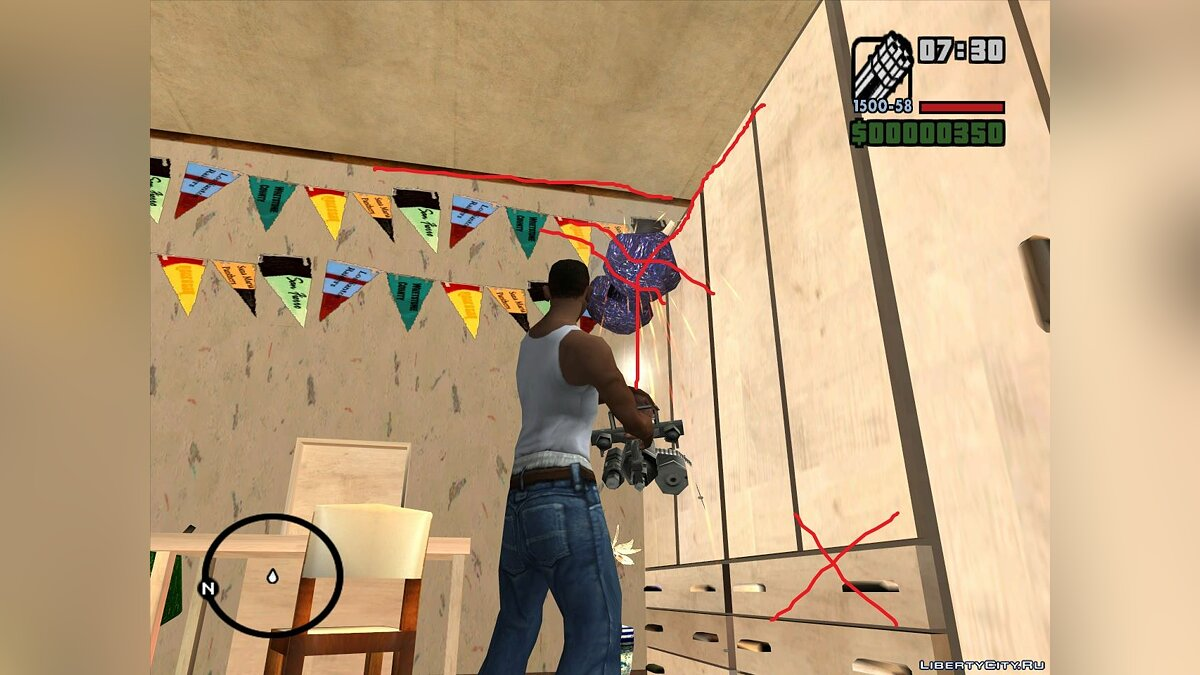 Mod Corrected collision of objects in Katie's house for GTA San Andreas