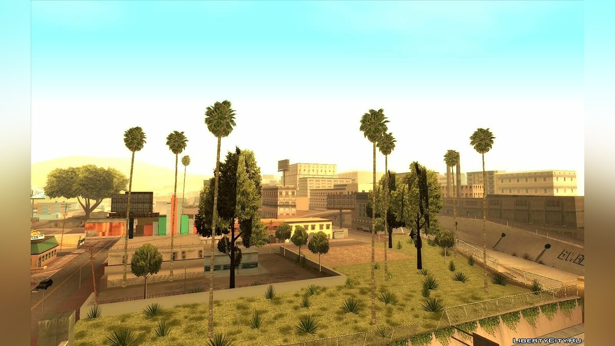 Mod Realistic palm trees (Los Angeles style) for GTA San Andreas