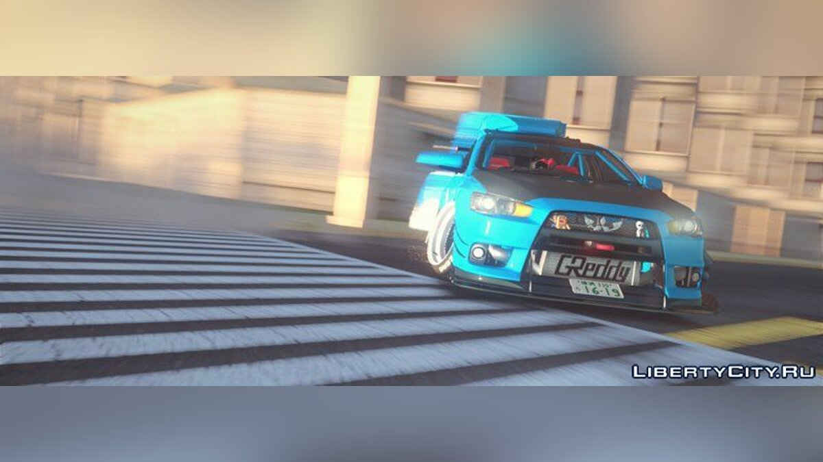 Mitsubishi car Mitsubishi Lancer Evolution X Hellaflush 2015 for GTA San Andreas