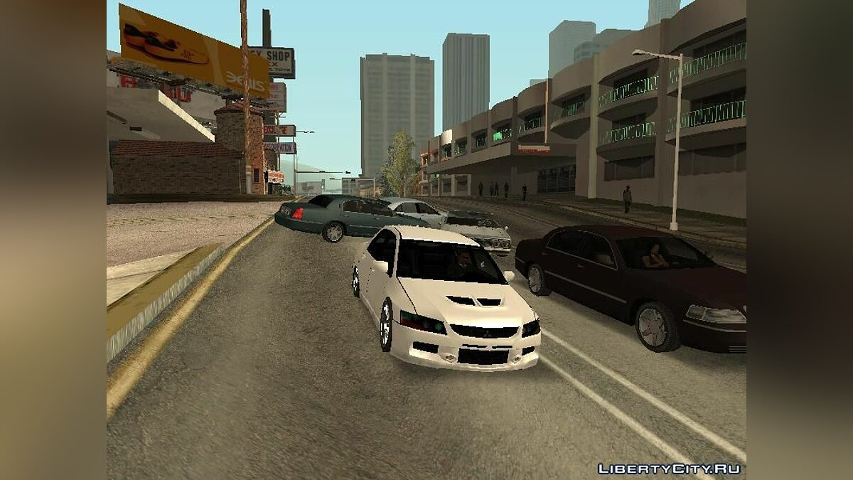 Mitsubishi car Mitsubishi Lancer Evolution IX SA Style for GTA San Andreas