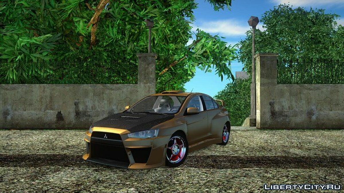 Mitsubishi car Mitsubishi Lancer Evo X for GTA San Andreas