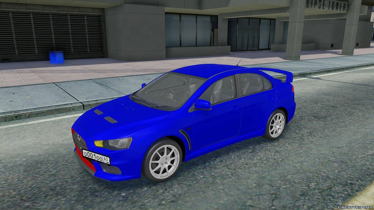 Mitsubishi car Mitsubishi Lancer Evolution X for GTA San Andreas