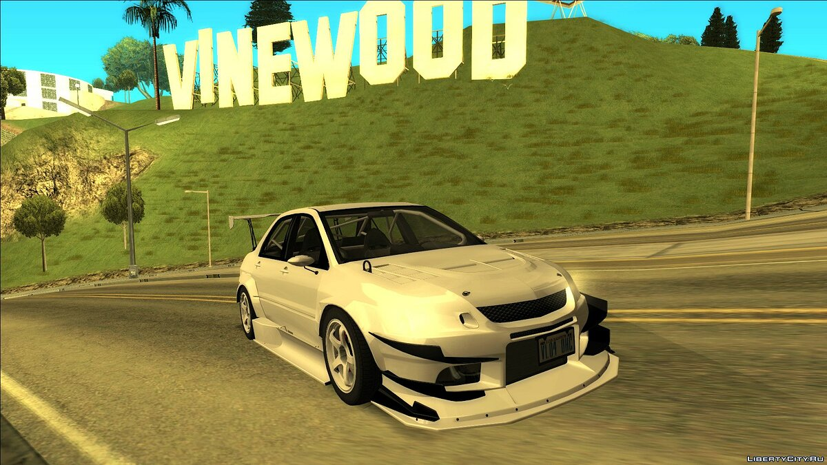 Mitsubishi car Mitsubishi lancer for GTA San Andreas