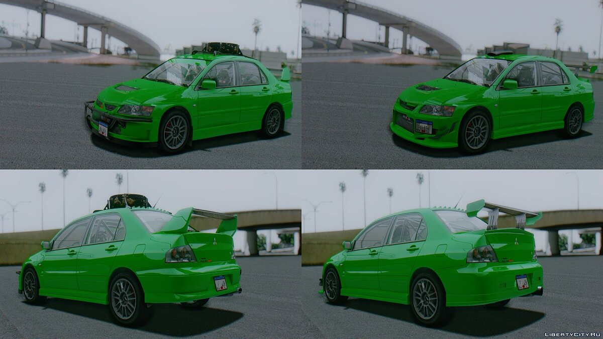 Mitsubishi car 2006 Mitsubishi Lancer Evolution IX MR (USDM) for GTA San Andreas