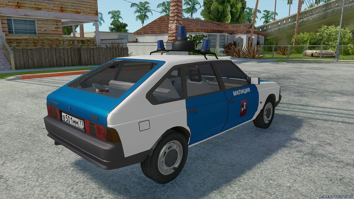 Moskvitch car AZLK-21418 Police for GTA San Andreas