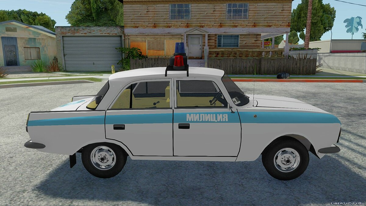 IZH-412-028 Police for GTA San Andreas - Картинка #3
