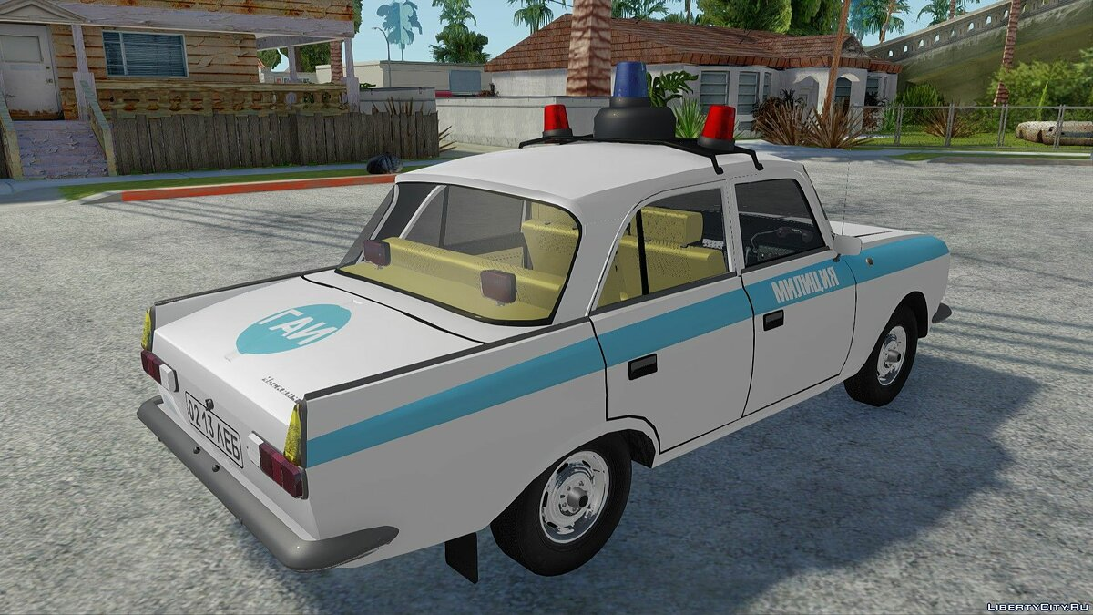IZH-412-028 Police for GTA San Andreas - Картинка #6