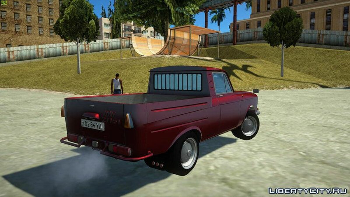Moskvitch car IL 27151 Pickup for GTA San Andreas