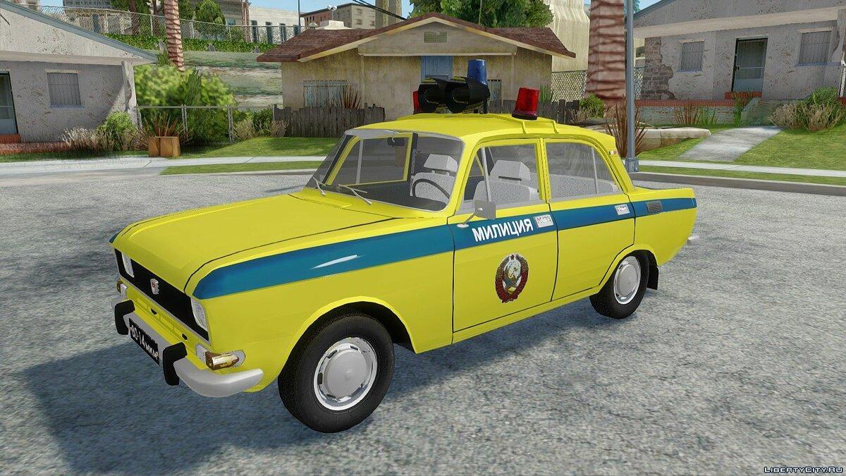 Moskvitch car Moskvich-2140 Police for GTA San Andreas
