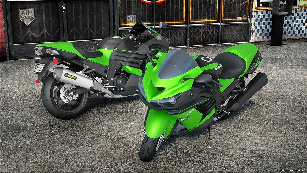 Motorbike 2018 Kawasaki ZX-14R for GTA San Andreas
