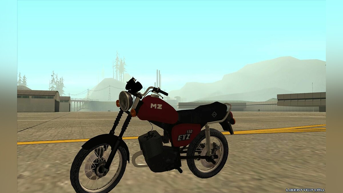Motorbike MZ ETZ 150 (your sounds) for GTA San Andreas