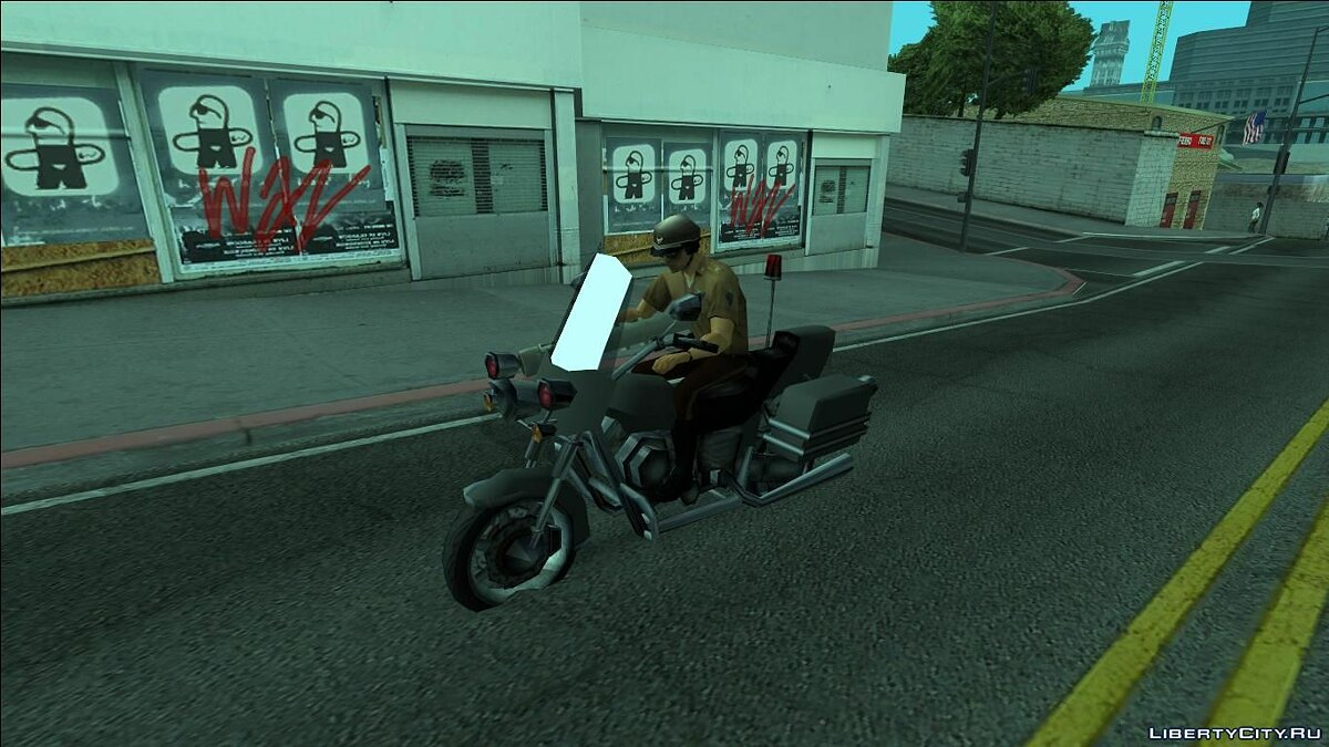Motorbike Vice City Police Wintergreen (FROM GTA UNDERGROUND) for GTA San Andreas