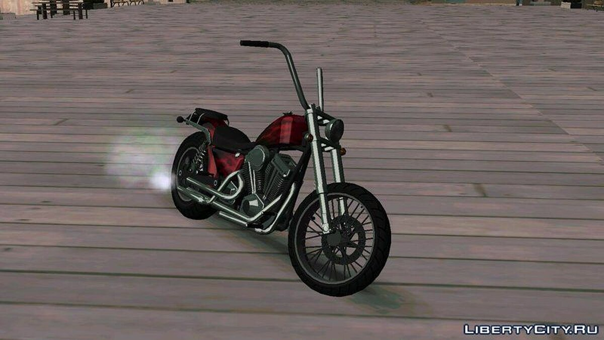Motorbike Daemon GTA The Lost And Damned 2 Tonos Metálicos for GTA San Andreas
