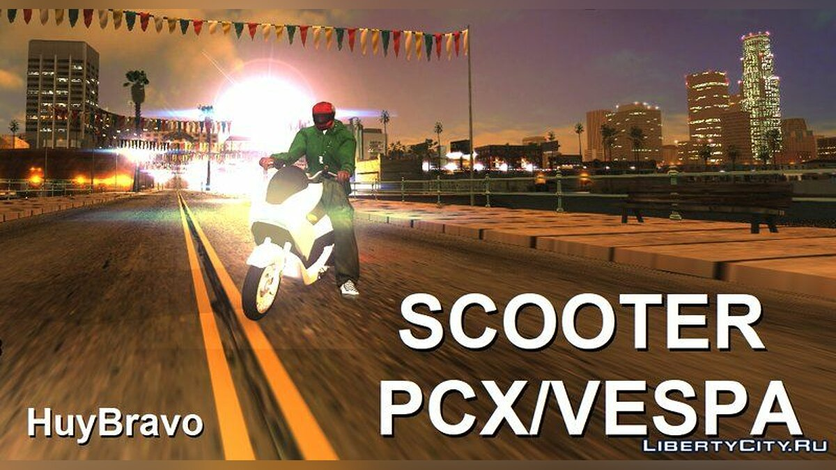 Motorbike Scooter PCX / VESPA + sounds for GTA San Andreas