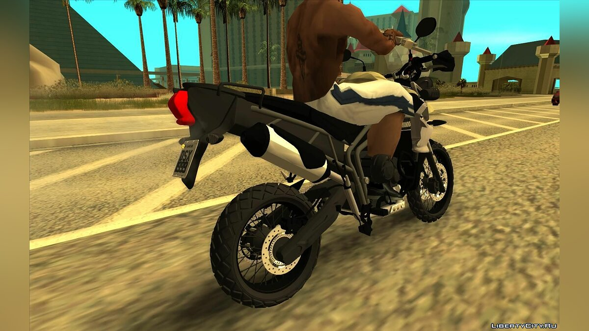 Motorbike Triumph Tiger 800xc + Leve for GTA San Andreas