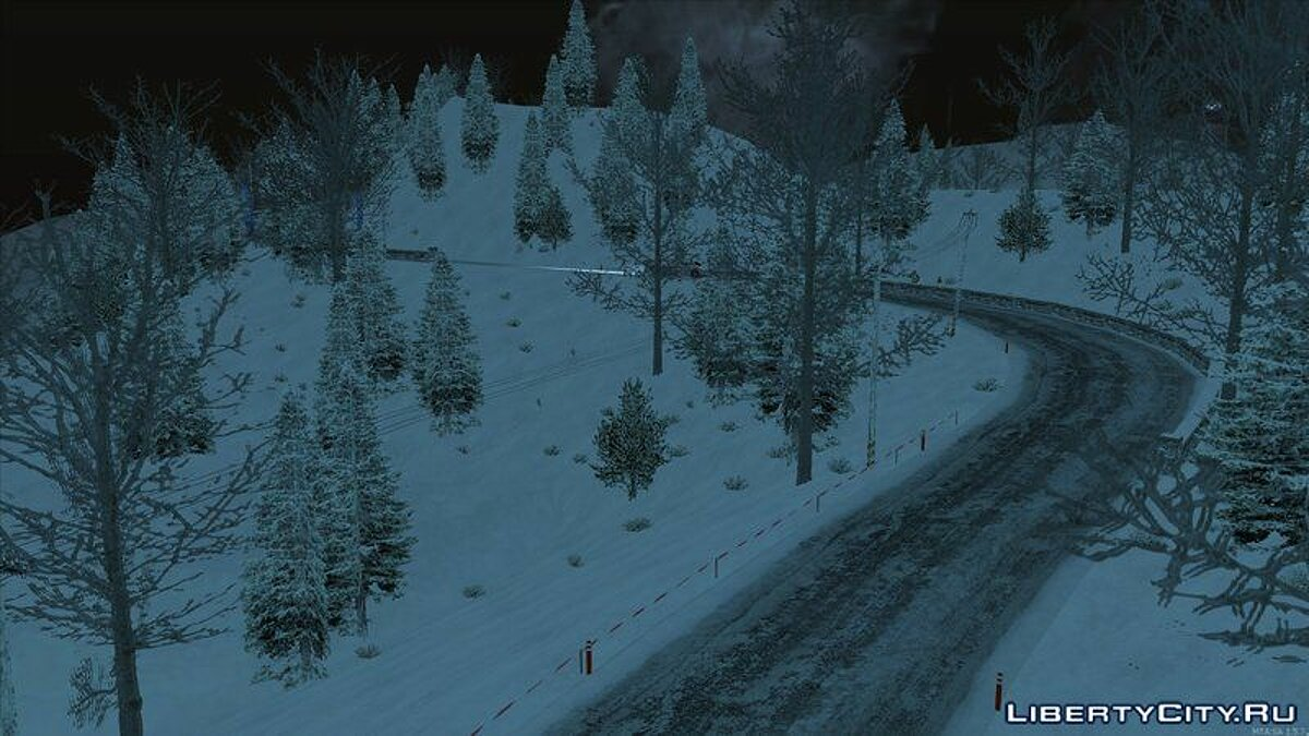 Map Alpine rally track for GTA San Andreas