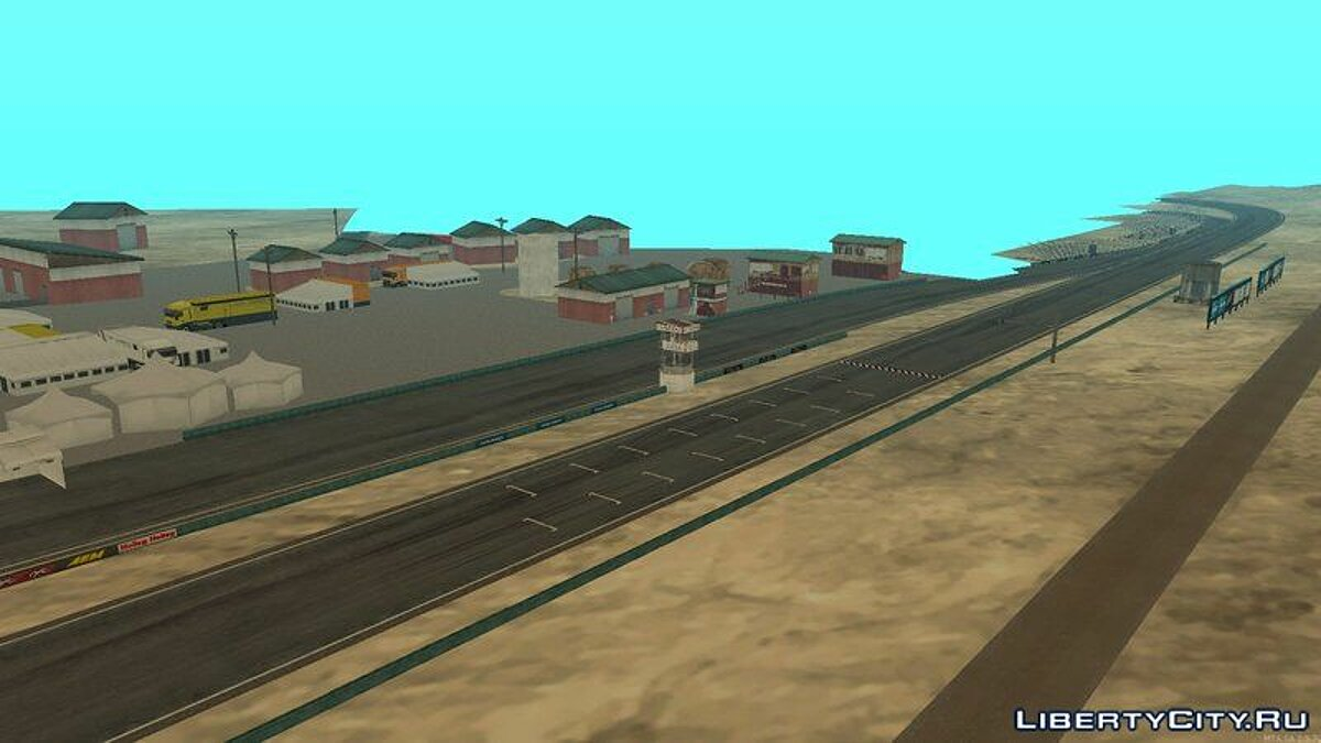 Map Трасса Willow Springs for GTA San Andreas