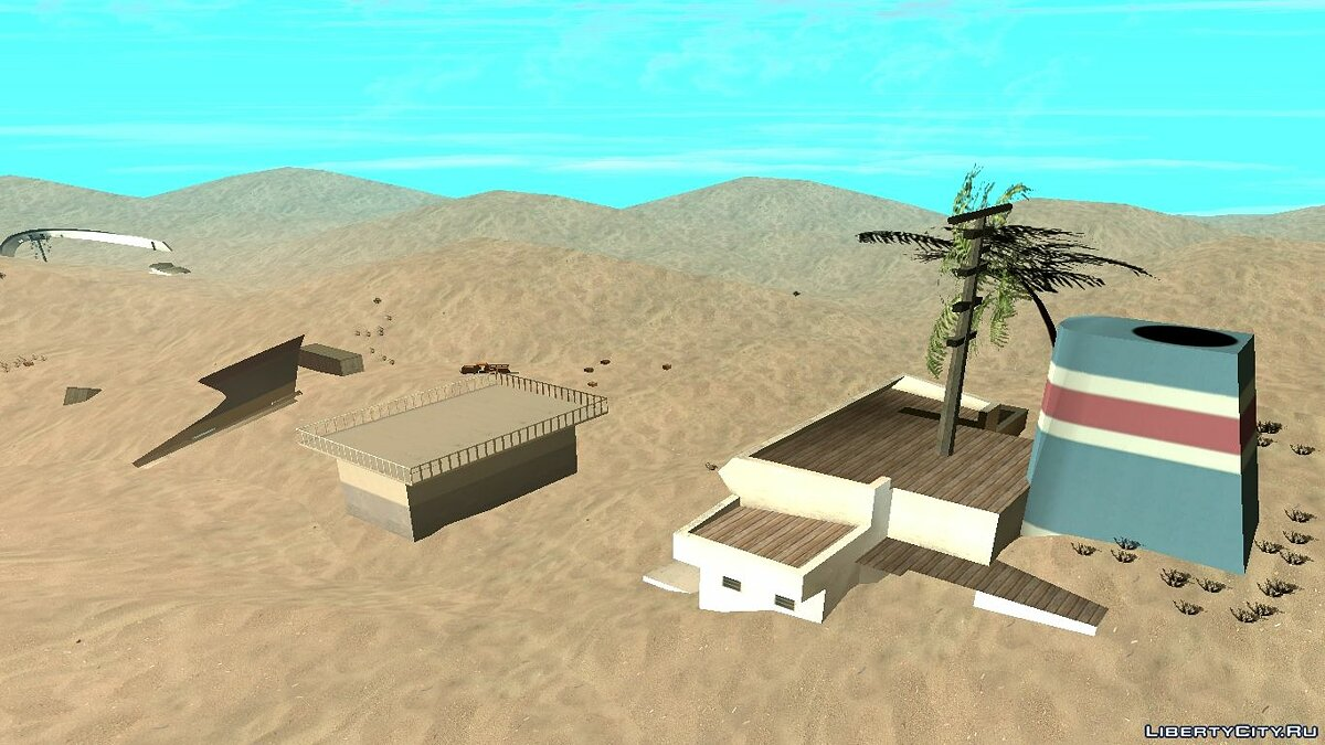 Map Desert / Sand Map (Beta 1). Public version for GTA San Andreas