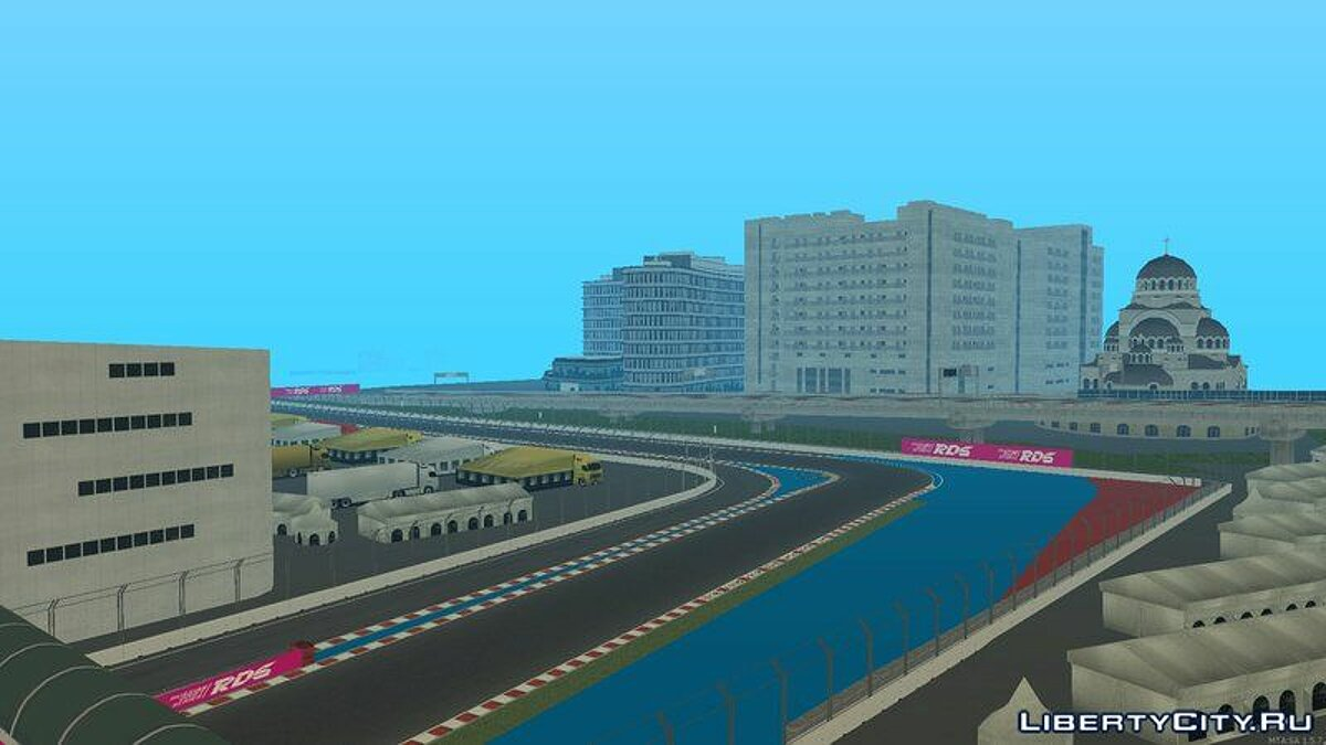 Map Circuit in Sochi for GTA San Andreas