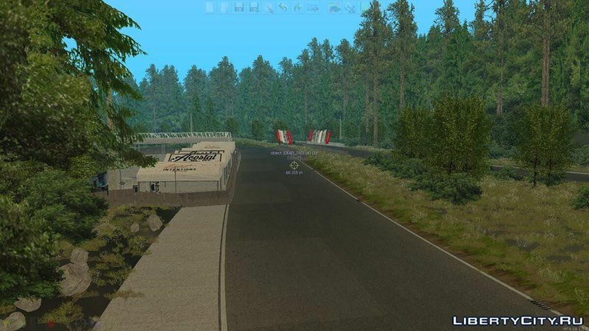Map Drift Track - Lost Intentions Shimonosho for GTA San Andreas