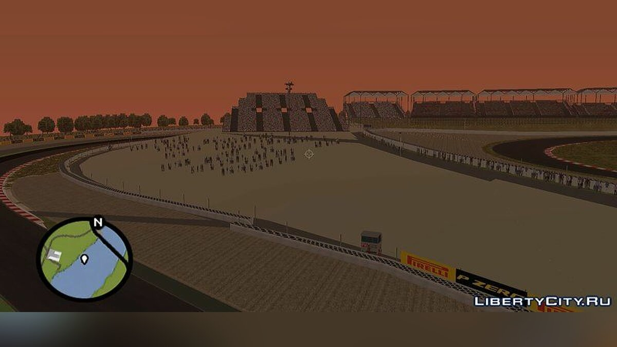 Map Catalonia race track for GTA San Andreas
