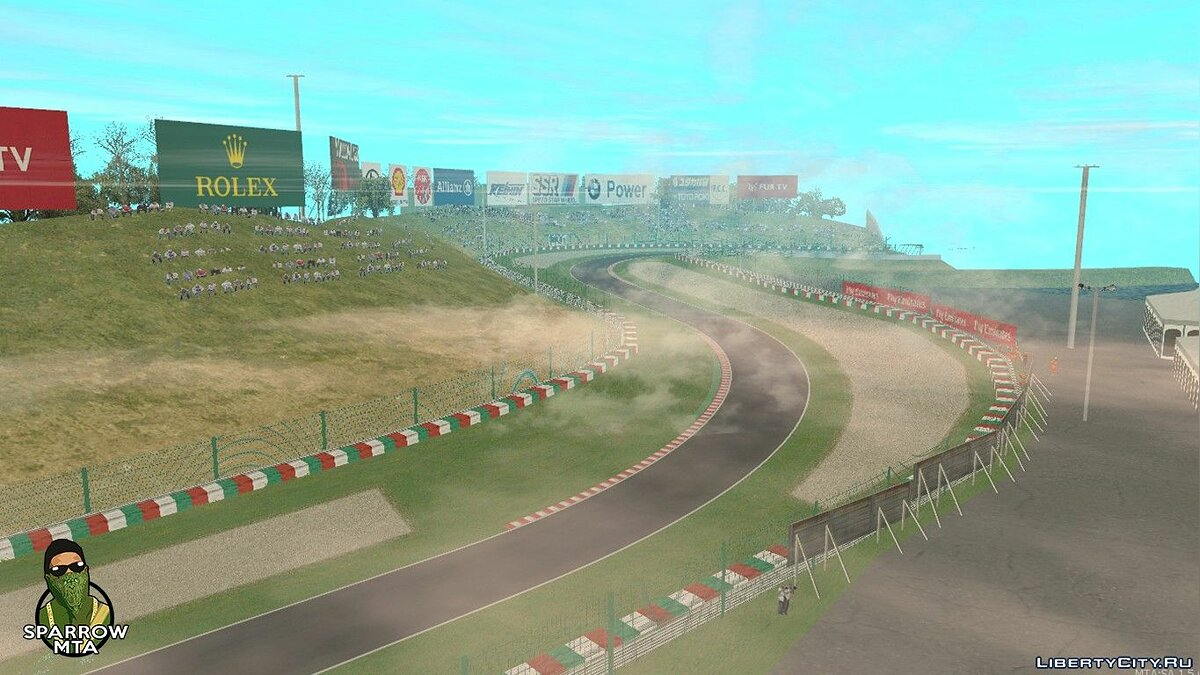 Map Suzuka racing track for GTA San Andreas