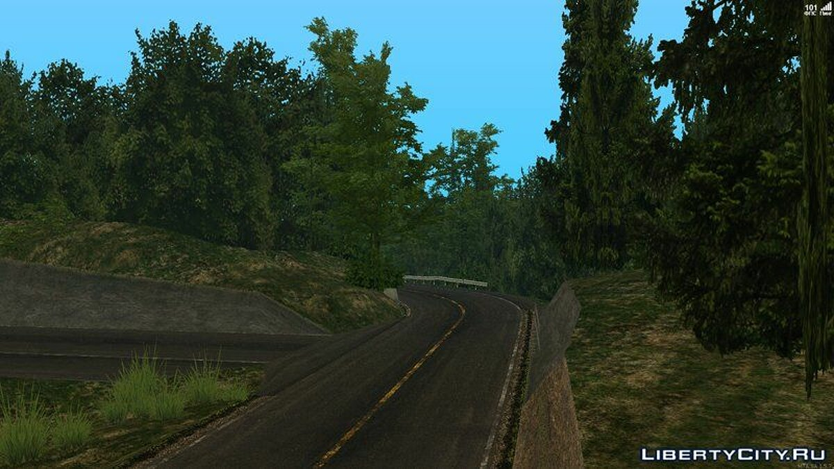 Map Usui Full Track for GTA San Andreas