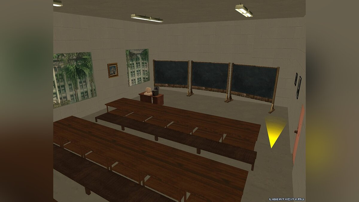 Map IS CARDS # 5: University (Interior) for GTA San Andreas