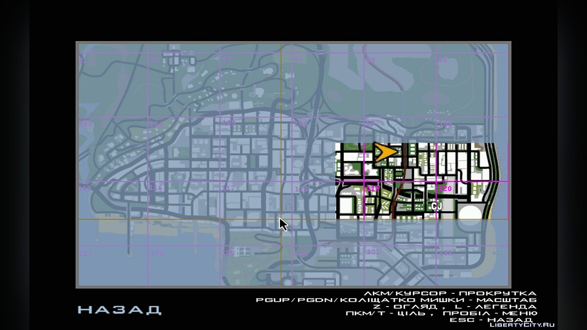 Map Indexed Map for GTA San Andreas