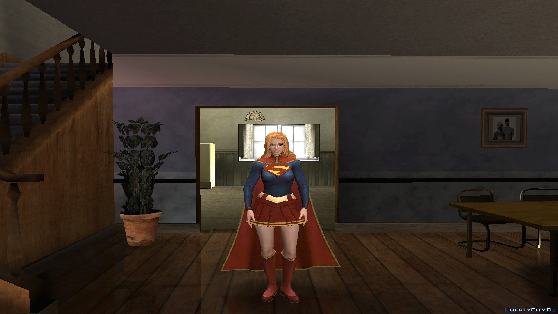 super girl from dc unchained for gta san andreas