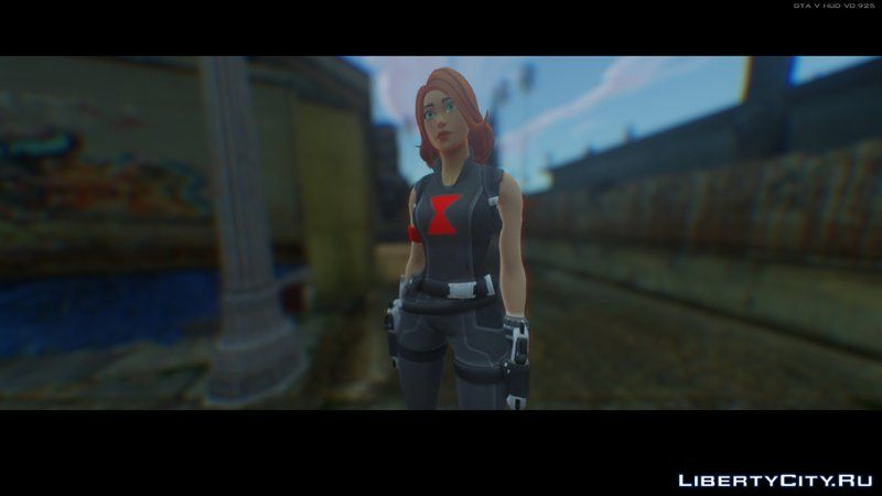 Black Widow Skin From Fortnite For Gta San Andreas