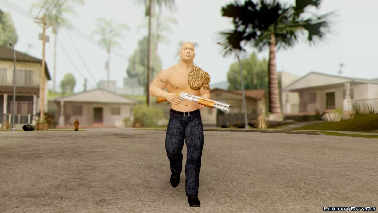 WWE 2K15 The Rock for GTA San Andreas