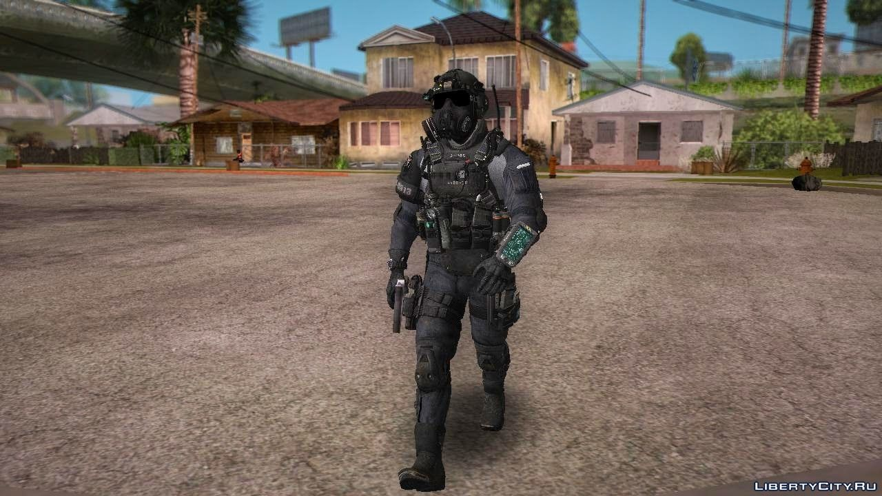 COD Ghost Elite PMC Assault for GTA San Andreas