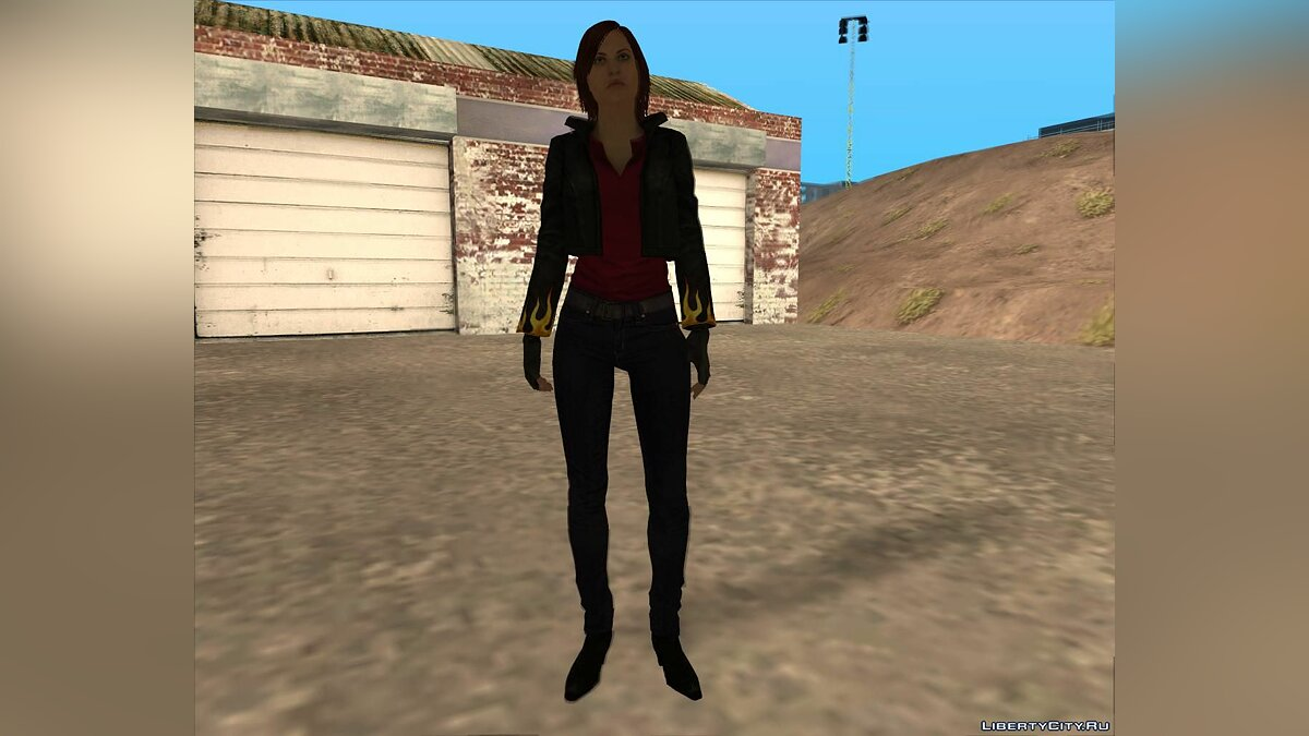 Claire in a biker suit for GTA San Andreas