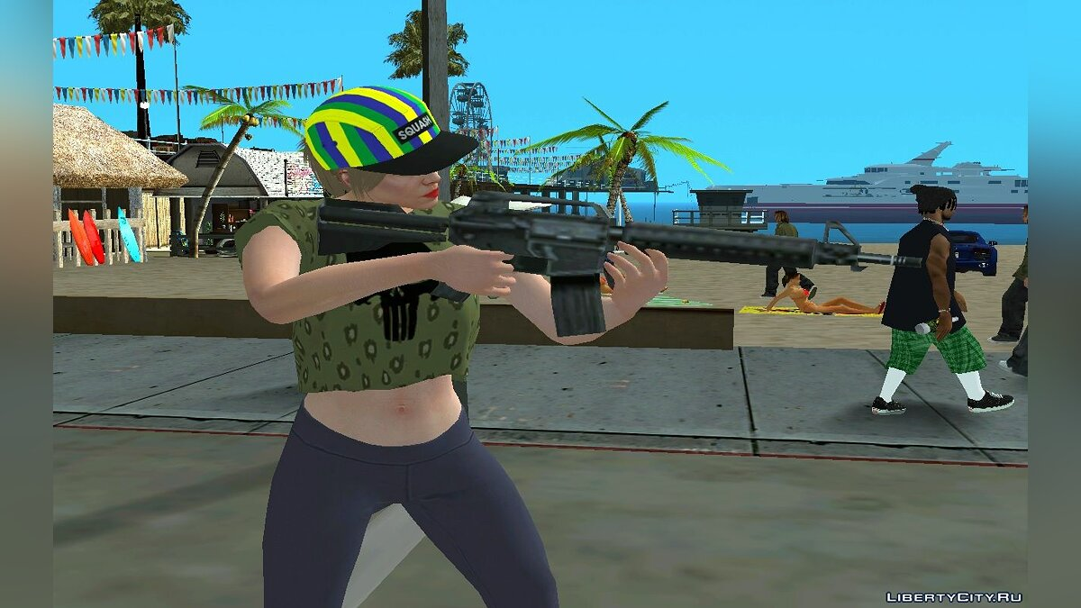 New character Random skin girls from GTA Online for GTA San Andreas