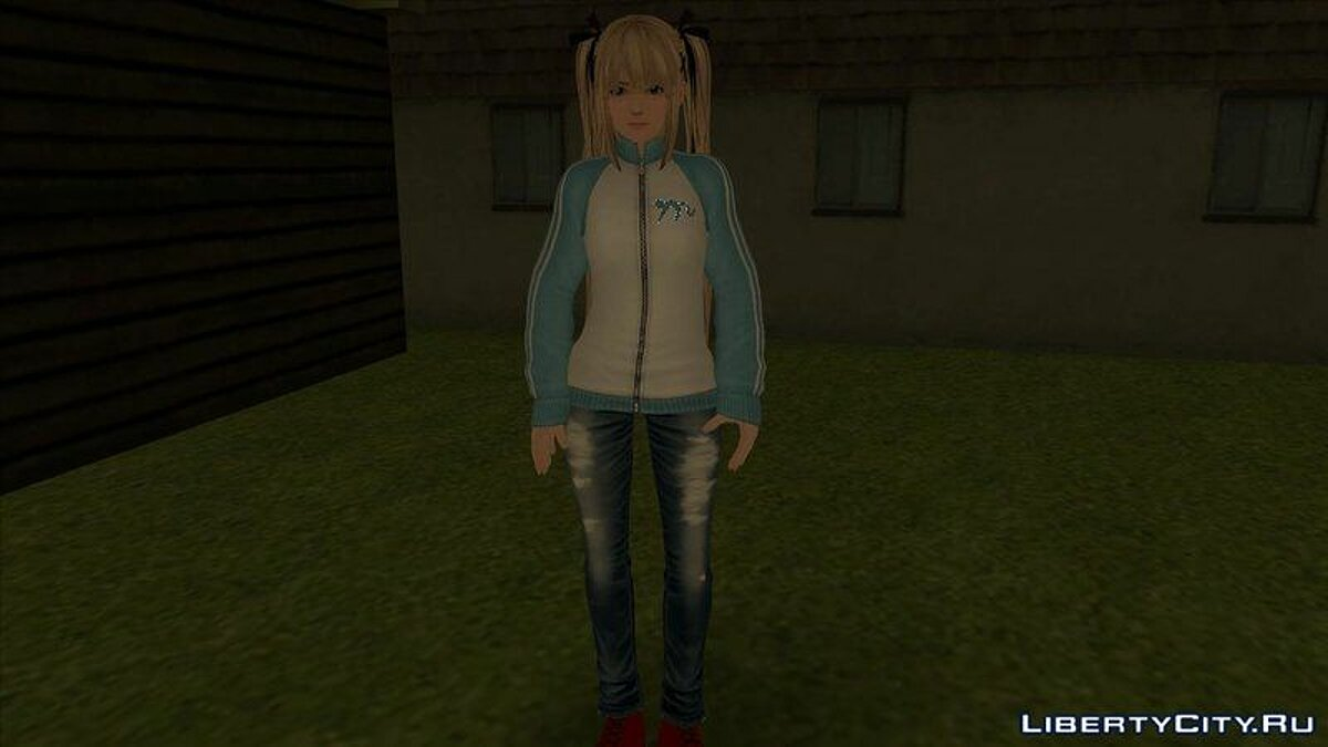 New character Mary Rose in a trowel and jeans from the game Dead or Alive 5 for GTA San Andreas