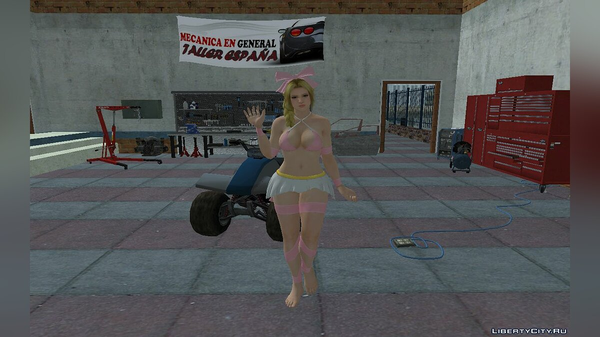 New character Helena Douglas in a swimsuit for GTA San Andreas
