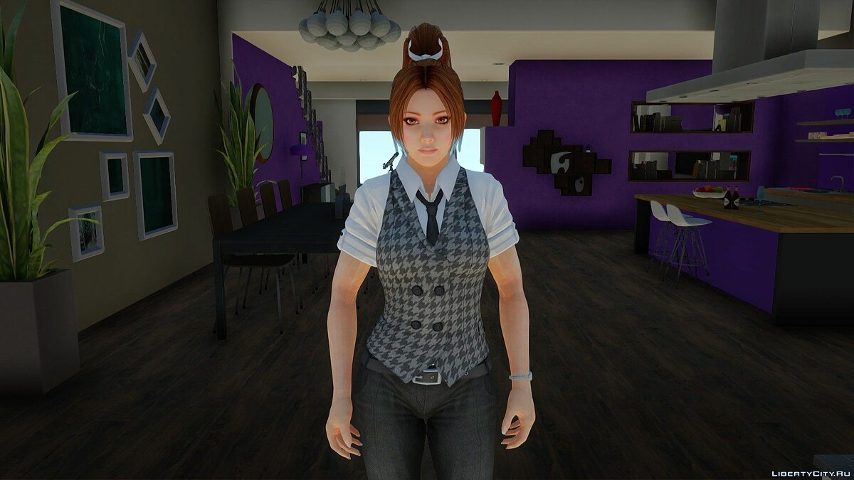 New character Mei Shiranui in office clothes for GTA San Andreas