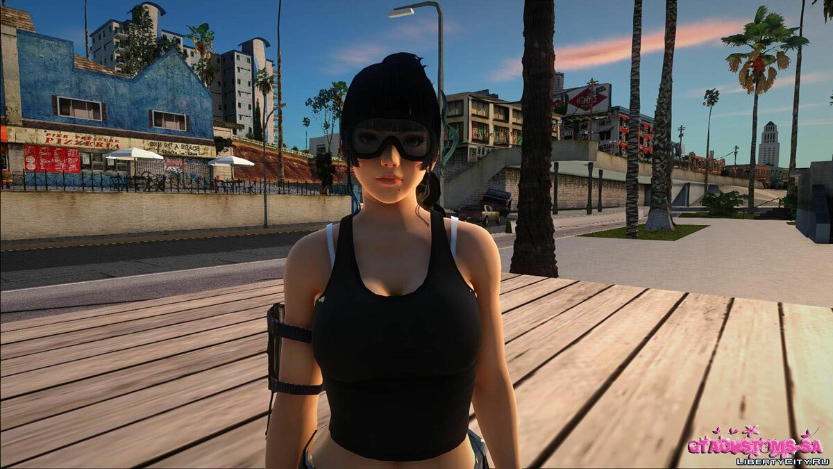 New character Nyotengu in Marine outfit for GTA San Andreas