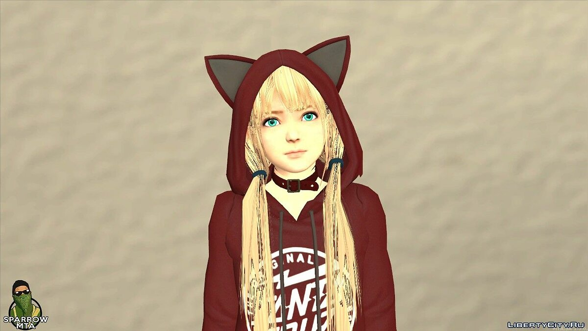 New character Skin anime girls for GTA San Andreas