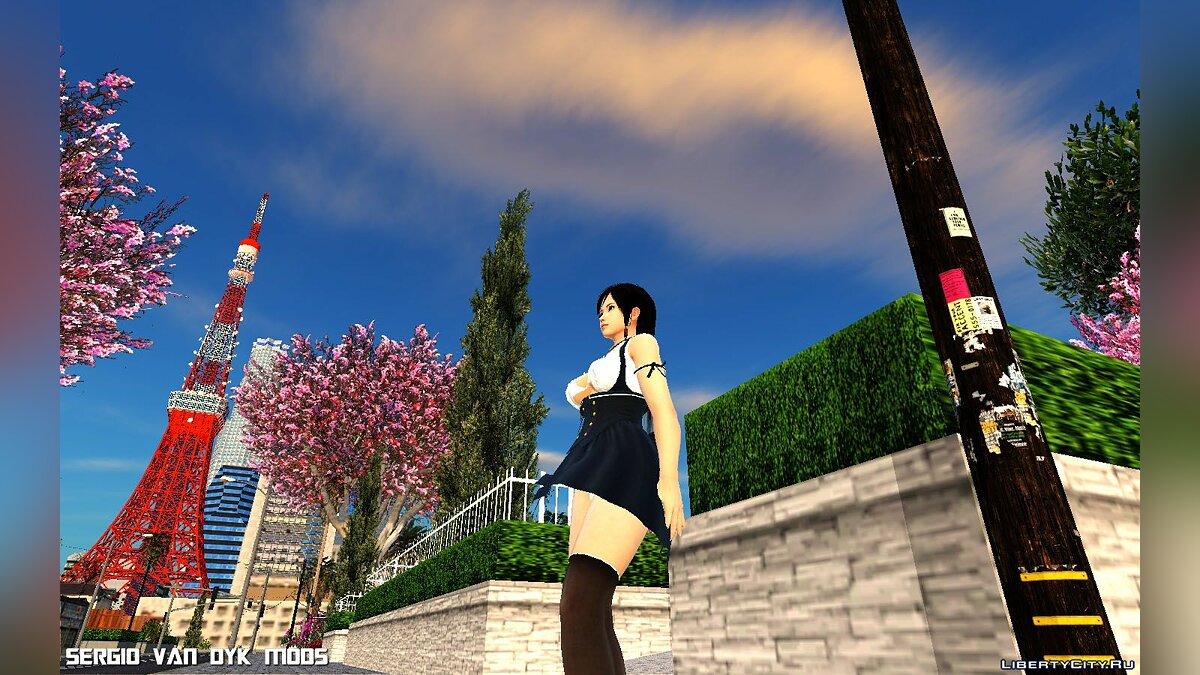 New character Kokoro in Sunlight Humming from Dead or Alive Xtreme Venus Vacation for GTA San Andreas