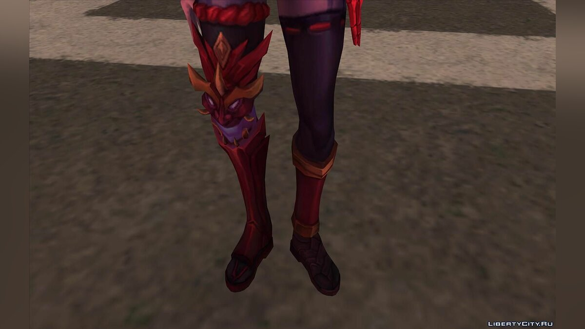 New character Blood Moon Katarina from League of Legends for GTA San Andreas