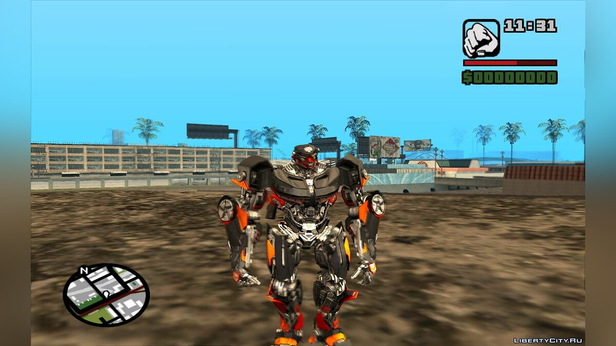 New character Transformers The Last Knight skin pack for GTA San Andreas