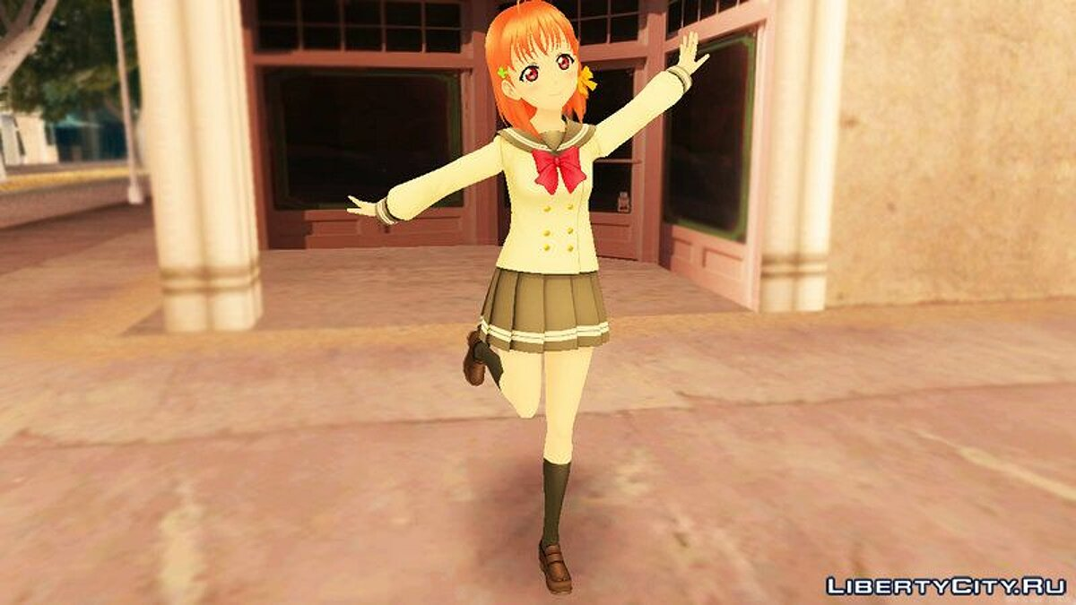 New character Таками Чика [Love Live Sunshine!] for GTA San Andreas