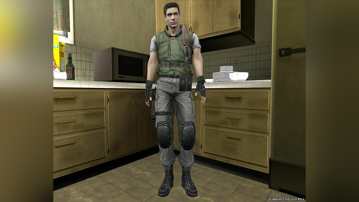 "Chris from the game ""Resident evil"" for GTA San Andreas"