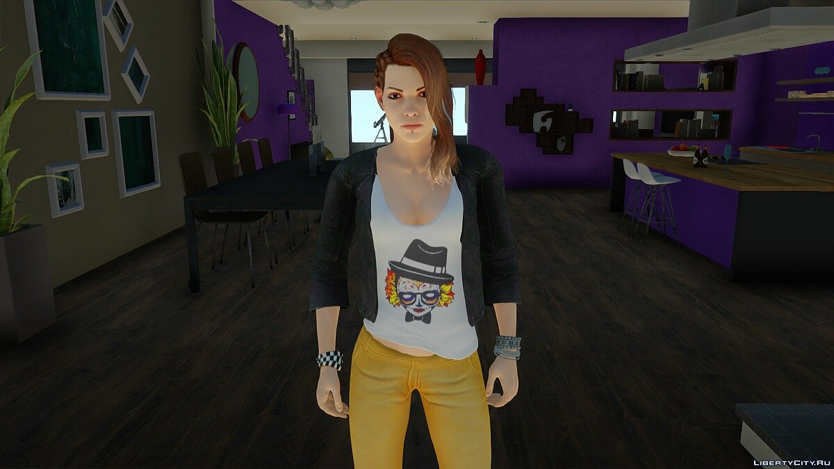 New character Shelley Harrison from Bombshell in casual wear for GTA San Andreas