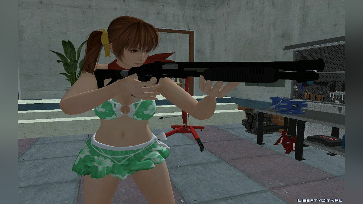 New character Kasumi in a swimsuit for GTA San Andreas