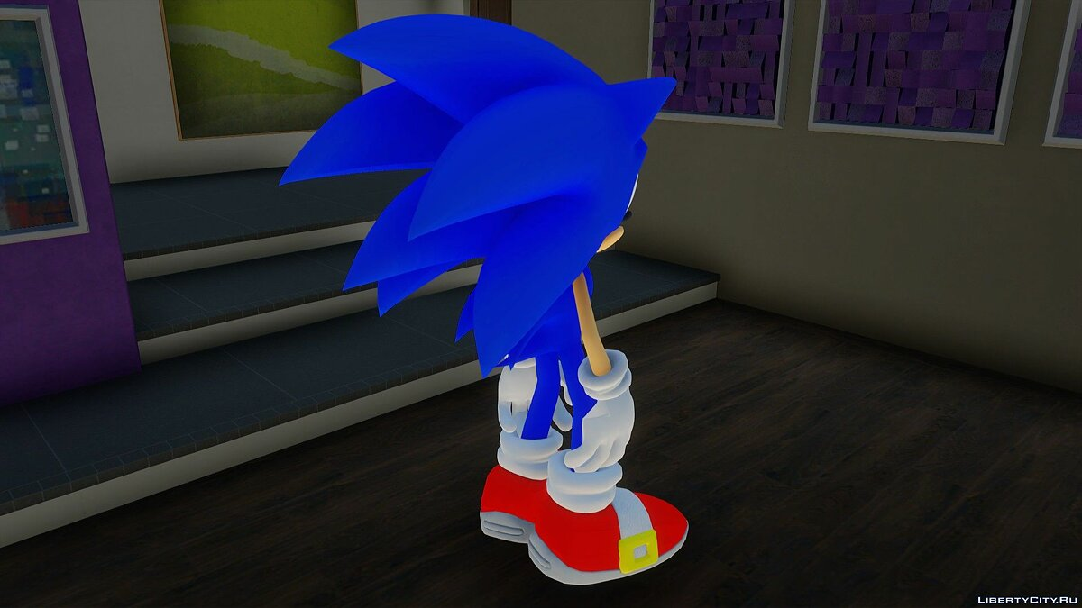 New character Sonic the Hedgehog for GTA San Andreas